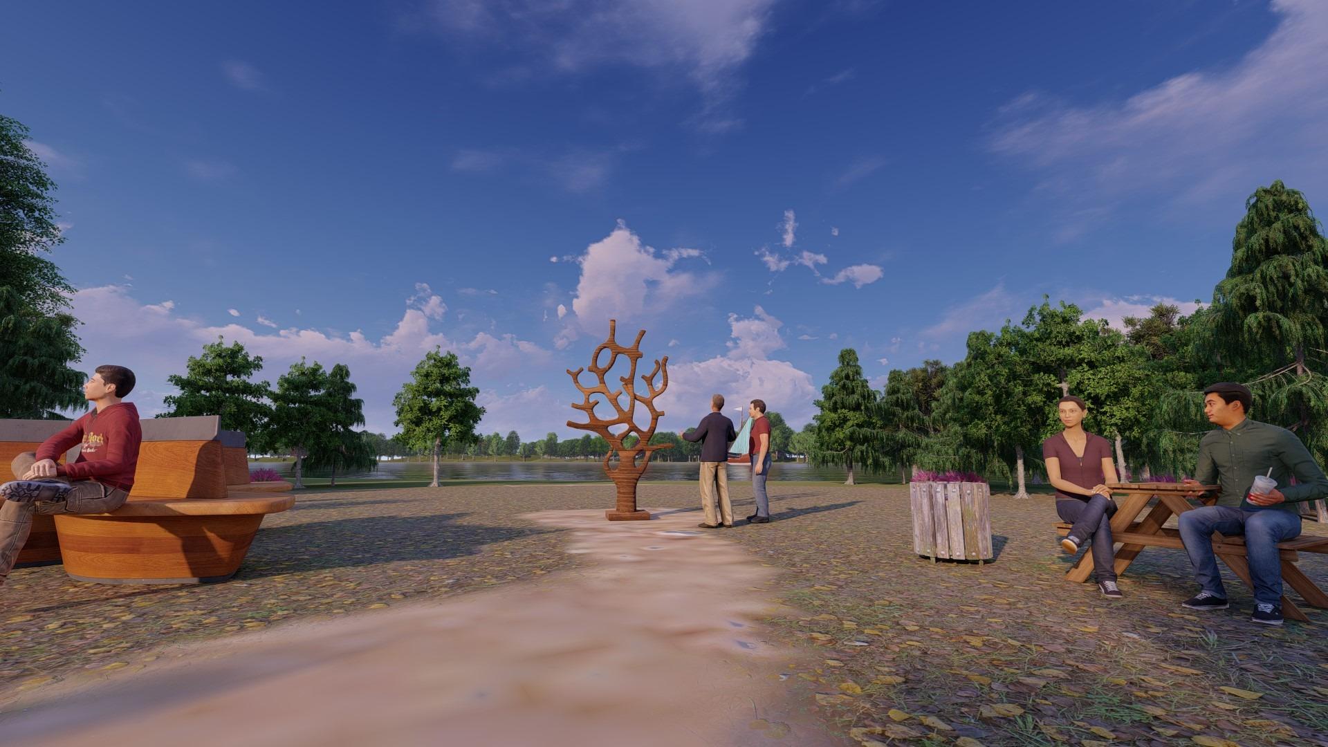 Artfulparks - Art Area - Bog Oak Sculptures