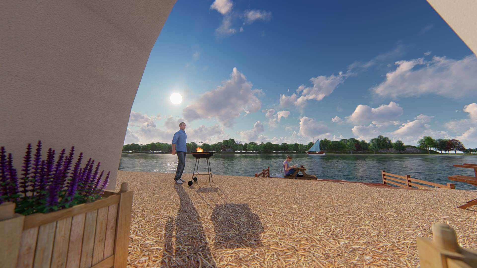 Artfulparks - Visitor Lodge - View of Lake