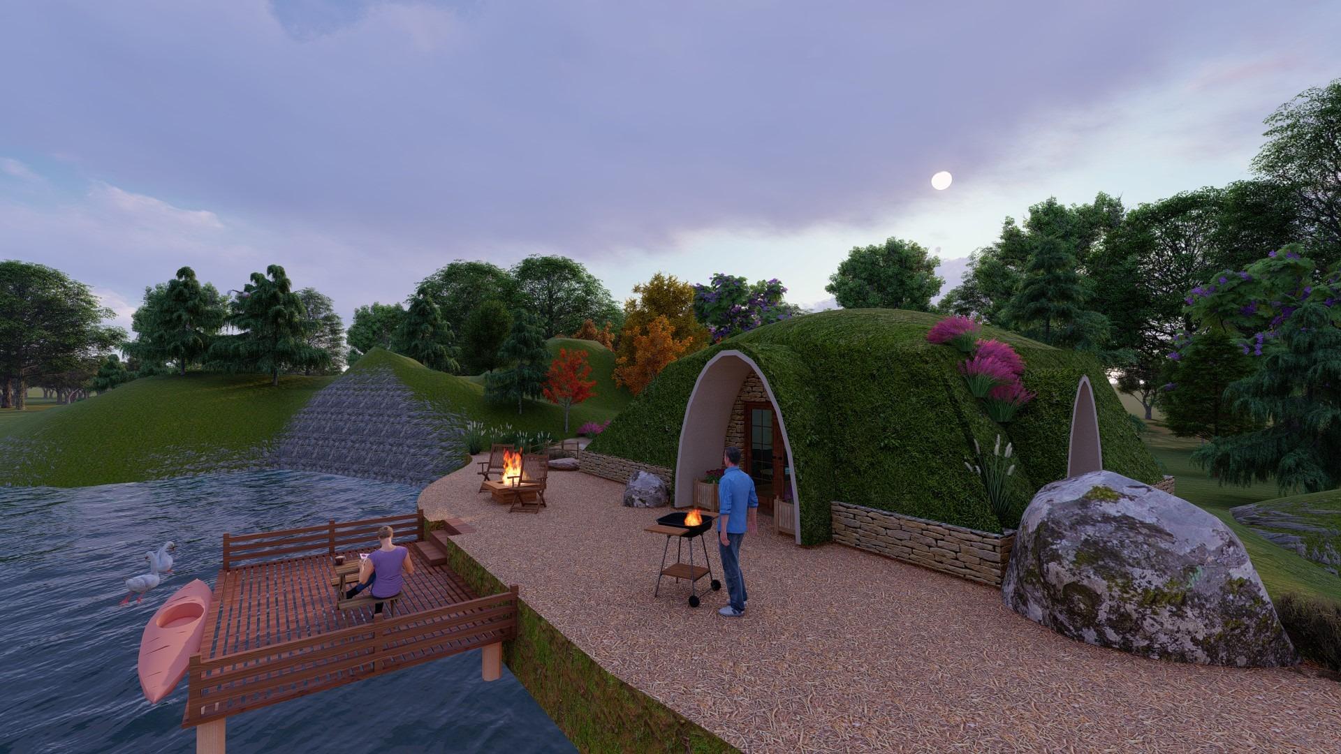 Artfulparks - Visitor Lodge with Lake Dock