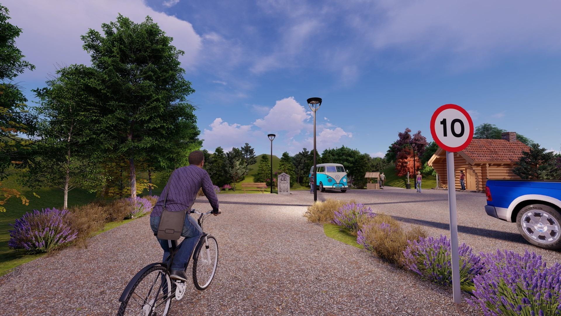 Artfulparks Enterance, Car Park and Reception
